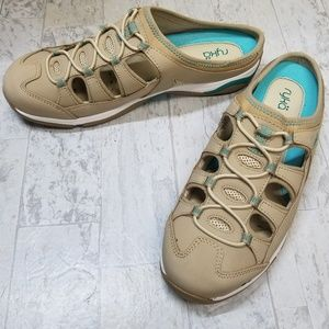 Ryka tan leather-upper step-in sport shoe Sz 10
